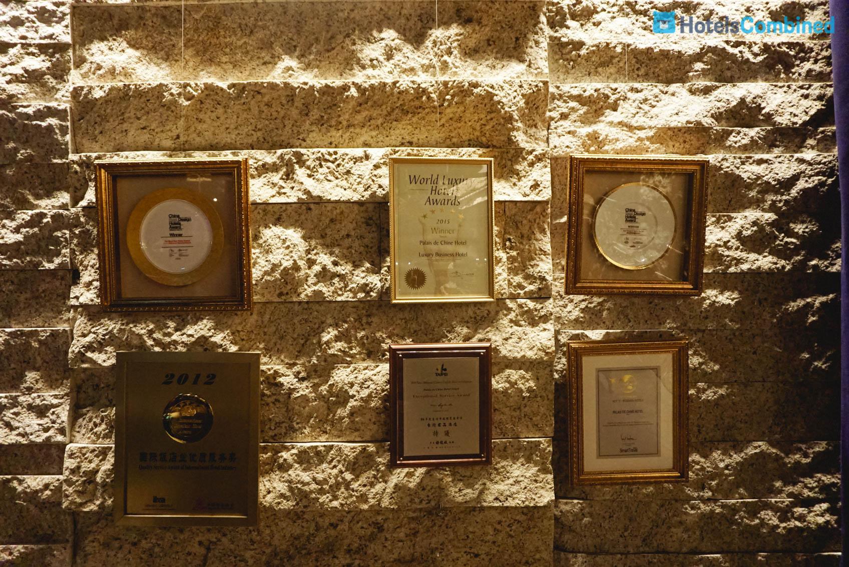 รางวัลต่างๆ ที่โรงแรมได้รับ