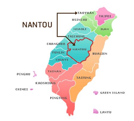Nantou อยู่ตรงไหน? อยู่ตรงกลางของเกาะไต้หวันพอดีเลยค่ะ